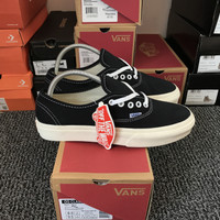 Sepatu Vans Authentic OG mono Premium 1:1 EVB - Black White OG, 37