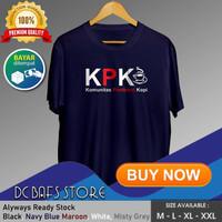 Baju Kaos Oblong Distro Tshirt Pria Branded Cotton Murah Penikmat Kopi - Putih, M