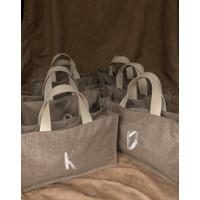 Tas Kanvas Goodie Bag Wedding Souvenir Hampers Handle Katun - Bordir