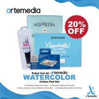 Paket Cat Air Artemedia Watercolor Cotton Pad Set