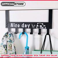 Gantungan Baju Besi Belakang Pintu Nice Day - Hanger Kapstok Pakaian - Putih