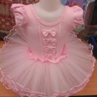 Baju balet anak perempuan import warna pink & biru umur 2 - 5 tahun.
