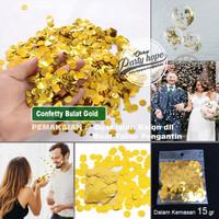 confetti isian balon GOLD / Glitter isian balon transparan / confetti