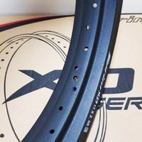 Velg Rossi Rossy XD 250 300 350 Ring 17 36H 28H Black Original Not tdr