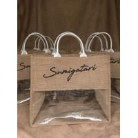 Souvenir Tas Goodie Bag Hampers Karung Goni Mika Kanvas Bordir - XL
