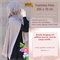 Pashmina polos (200 X 70) diamond crepe stretch (for your free style)