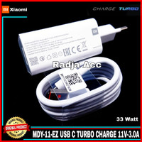 Charger Xiaomi Redmi Note 9 Pro TURBO CHARGE 33W Original 100% Type C