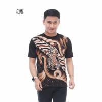 Kaos Batik Wayang /Kaos Polo Pria