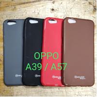 Capdase silikon karet hitam soft case oppo a39 a57 harga murah