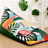 bean bag sofa printing costume daun uang ( cover only)