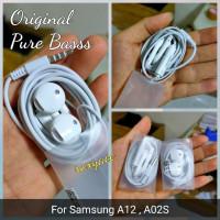 headset samsung a12 A02S earphone pure bass