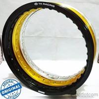 Velg TK Japan 215 Ring 17 36H Black Gold Silver Original not tdr excel