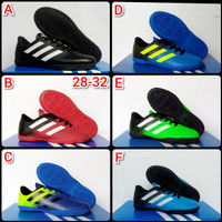 Sepatu Anak,Sepatu Futsal Anak Adidas 28-32 - Hijau Hitam, 28