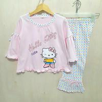 Piyama baju tidur anak perempuan Hello Kitty, sz 4