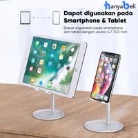 Tablet Phone Stand Holder Aluminium Alloy Adjustable Universal Hp Ipad