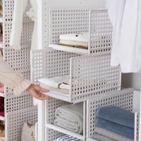 Clothes Shelves Space-efficient Drawer / Tempat Penyimpanan H019