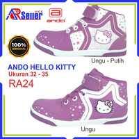 Sepatu Boot Bot anak perempuan SD TK Hello Kitty Original Ando