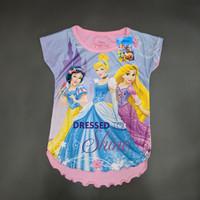 Disney Original Princess Kaos Baju Anak Perempuan Pakaian 15080369 - 4