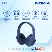 Nokia Wireless Bluetooth 5.0 Headphone / Headset with Mic E1200 - Blue