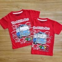 Baju Atasan Kaos Anak Laki Laki Cowok Tayo The Little Bus Merah