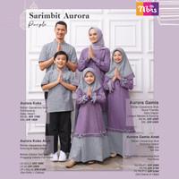 BAJU COUPLE FAMILY SET TERBARU + NIBRAS SARIMBIT AURORA PURPLE