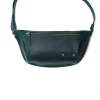 LTHRKRFT LIMITED BEYZA BAG WITH OLIVE CRAZY HORSE OILY LEATHER