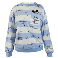 Sweater Wanita - Mickey Biru Langit