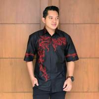 Kemeja Batik Baju Batik Lengan Pendek Pria M-L-XL-XXL