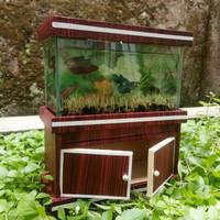 aquarium mini lemari set