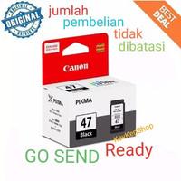 CANON PG 47 Black Hitam ORIGINAL Cartridge Tinta printer PG47