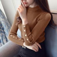 baju blus lengan panjang blouse cewek wanita rajut melar terbaru b5tt