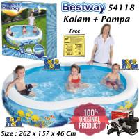 Bestway 54118 Kolam Renang Anak Keluarga Besar 262 cm + Pompa Listrik