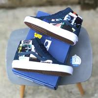 Sepatu Vans x DQM Blue Note Record Sk8 Hi OG LX Dres Navy Vinil BNIB