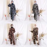Setelan Celana Wanita Atasan Tunik Muslim Panjang Busui Rayon Premium