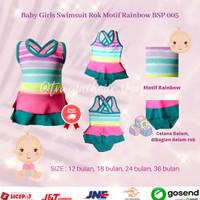 Baju Renang Bayi Perempuan / Baby Girl Swimsuit 1-3 tahun BSP-005 - 12 bulan, Kuning