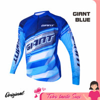 Jersey sepeda baju sepeda gowes roadbike XC Giant Blue