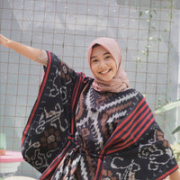 Blouse tenun blanket / Atasan wanita etnik model baju kelelawar