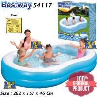 Bestway 54117 Kolam Renang Anak Keluarga Besar 262 cm