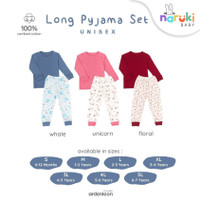 Ardenleon Long Pyjama Set Print Baby Kids Arden Leon Piyama Anak Bayi