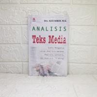 Analisis Teks Media (Suatu Pengantar..) ALEX SOBUR, DRS., MSI.