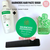 HAIRNERDS PROFESSIONAL HAIR STYLING PASTE POMADE STRONG HOLD MATTE