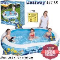 Bestway 54118 Kolam Renang Anak Mandi Bola Keluarga Besar 262 cm