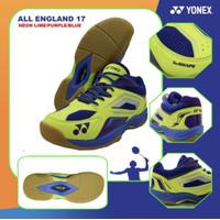 Sepatu Badminton Yonex All England 17 / AE17 Neon Lime Purple/Blue