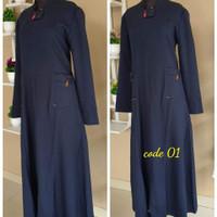 gamis dinas Dongker seragam guru seragam muslimah baju dinas guru
