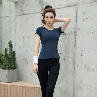 Kaos Sport Olahraga Dry Fit Wanita T-Shirt Slim Bahan Mesh Breathable