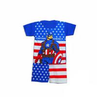 setelan anak cowok captain america/ baju superhero anak laki-laki