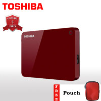 Toshiba Canvio Advance Hardisk Eksternal 4TB USB3.0 - Merah