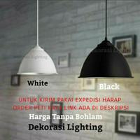 Lampu gantung minimalis hitam putih cafe resto simple hias dekorasi