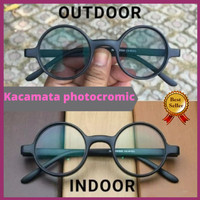 kacamata bulat retro/kacamata boboho/frame bulat/frame jhon lenon bula