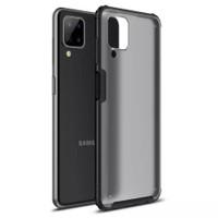Case Samsung Galaxy A12 Soft Case Transparent Matte Wlons Anti Knock - Hitam